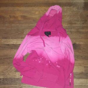 Pink tie die hoodie
